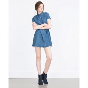 Zara Denim Button up Dress!